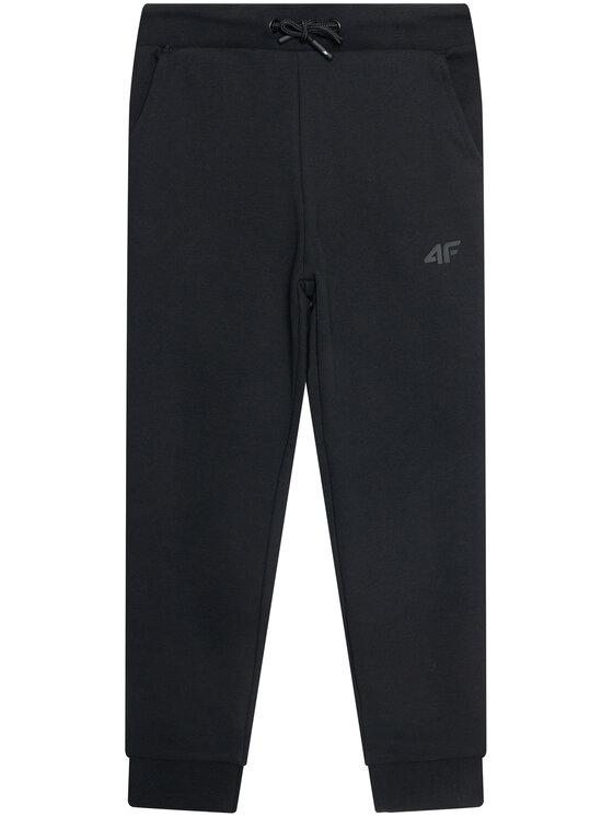 4F 4F Spodnie dresowe JSPMD001 Czarny Regular Fit