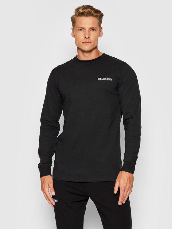 Han Kjøbenhavn Marškinėliai ilgomis rankovėmis M-20002 Juoda Regular Fit