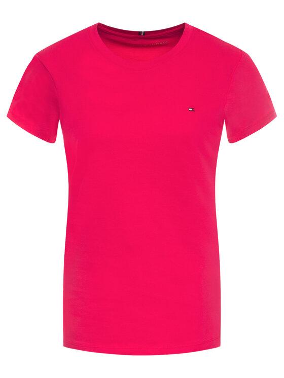 Tommy Hilfiger Tommy Hilfiger T-Shirt New WW0WW27735 Różowy Regular Fit