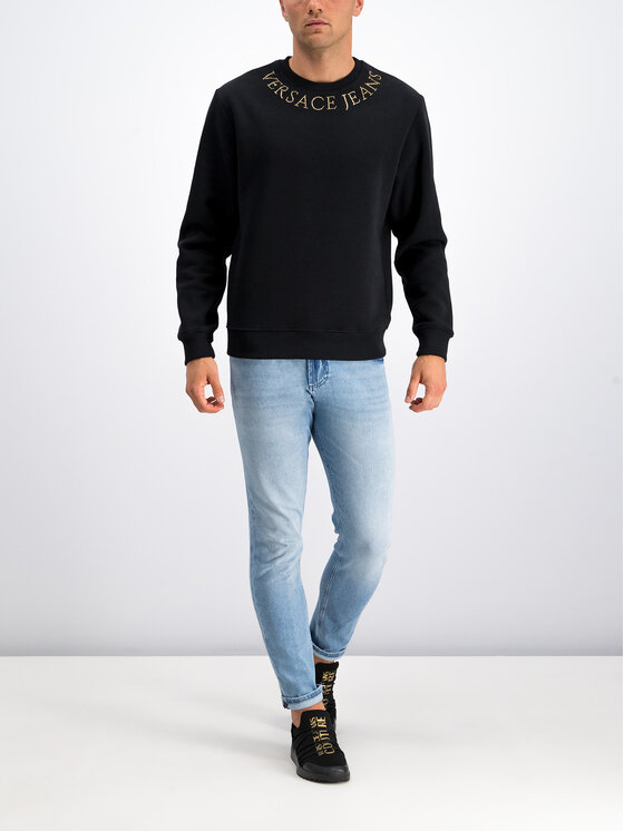 Versace Jeans Couture Versace Jeans Couture Μπλούζα B7GUA710 Μαύρο Regular Fit