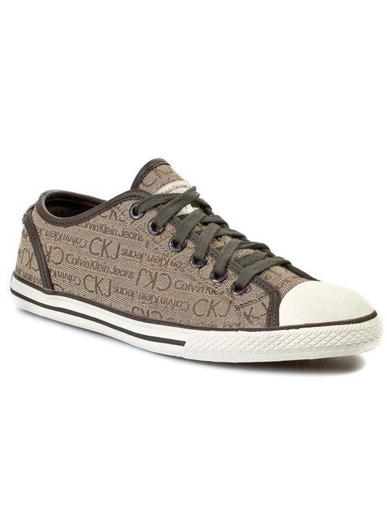 Calvin Klein Jeans Calvin Klein Jeans Scarpe da ginnastica Len Logo Jacquard S1118 Marrone