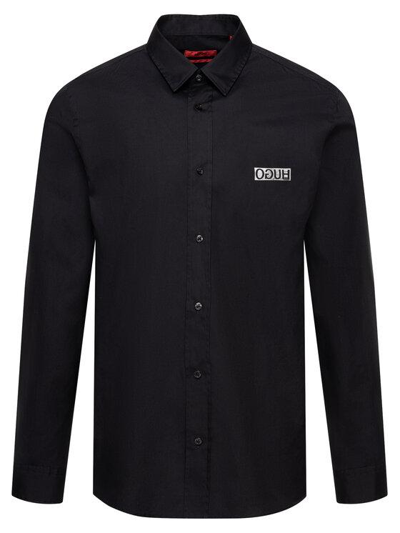 Hugo Hugo Риза 50418496 Черен Regular Fit