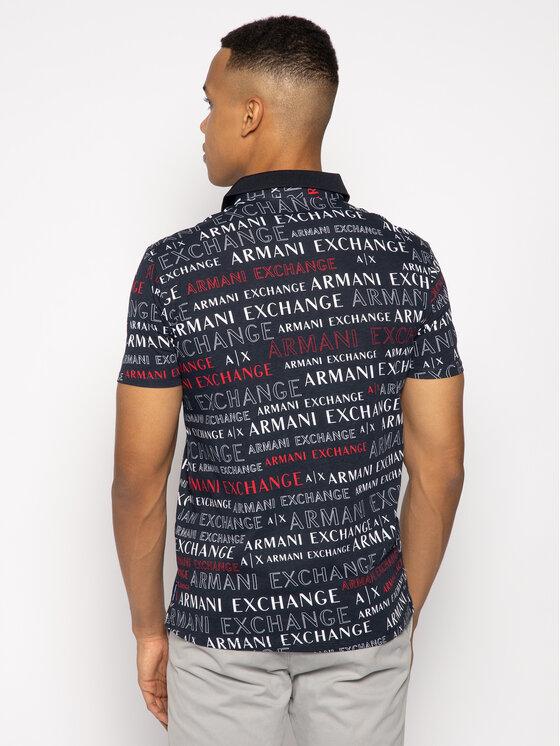 Armani Exchange Armani Exchange Polo marškinėliai 3HZF93 ZJH4Z 8535 Tamsiai mėlyna Regular Fit
