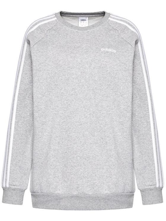 adidas adidas Majica dugih rukava Essential Boyfriend Crew FN5785 Siva Regular Fit