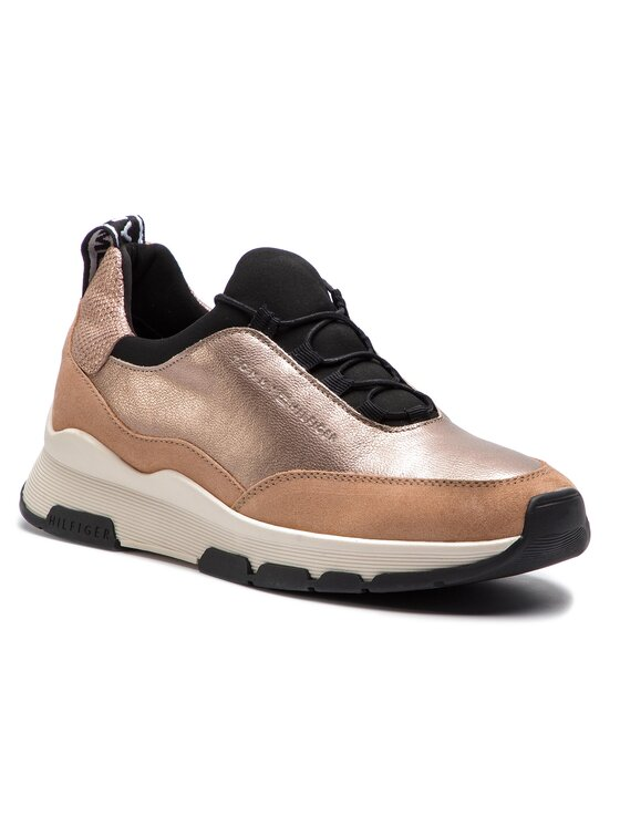 Tommy Hilfiger Tommy Hilfiger Sneakersy Cool Leather Debossed Sneaker FW0FW04028 Béžová