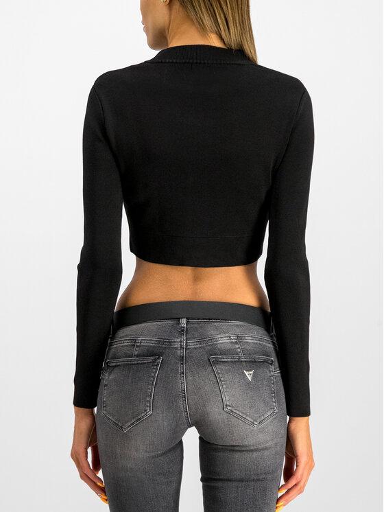 Guess Guess Μπλούζα W94R1B Z1YG0 Μαύρο Slim Fit