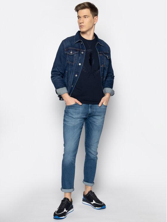 Trussardi Jeans Trussardi Jeans Mikina 52F00112 Tmavomodrá Regular Fit