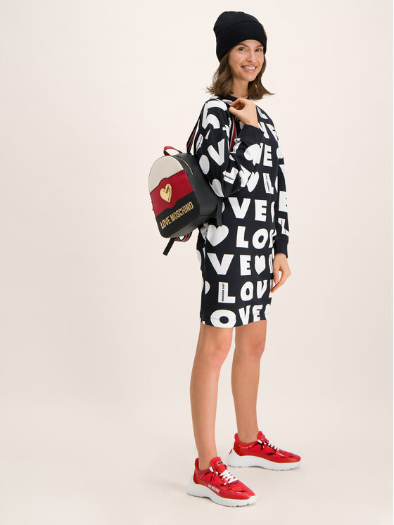 LOVE MOSCHINO LOVE MOSCHINO Плетена рокля W5B2000M 4139 Черен Regular Fit