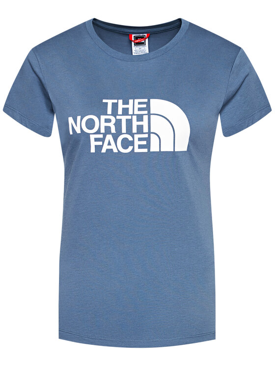 The North Face The North Face T-Shirt Easy NF0A4T1QWC41 Niebieski Regular Fit