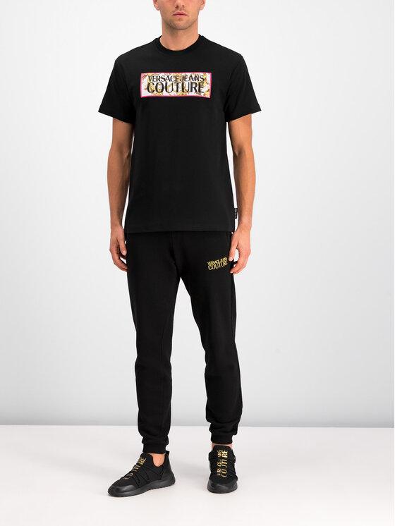 Versace Jeans Couture Versace Jeans Couture T-Shirt B3GUA7TG Czarny Regular Fit