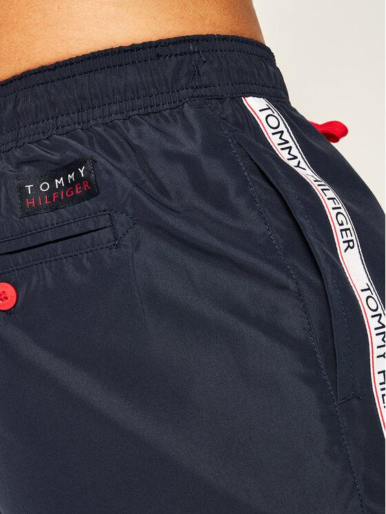 Tommy Hilfiger Tommy Hilfiger Plaukimo šortai Medium Drawstring UM0UM01720 Tamsiai mėlyna Regular Fit