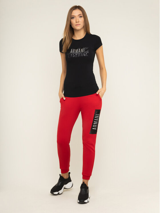 Armani Exchange Armani Exchange T-Shirt 6GYT91 YJC7Z 1200 Černá Slim Fit