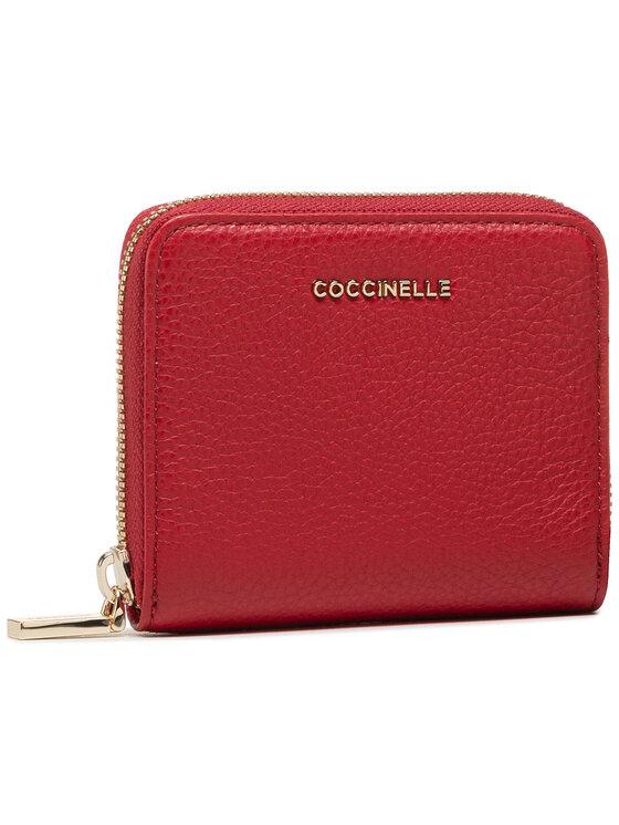 Coccinelle Coccinelle Mały Portfel Damski Metallic Soft E2 HW5 11 A2 01 Czerwony