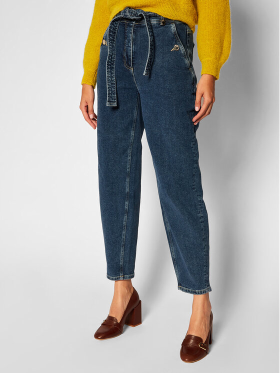 Pennyblack Jeansy Relaxed Fit Arpeggio 31840620 Tamsiai mėlyna Relaxed Fit