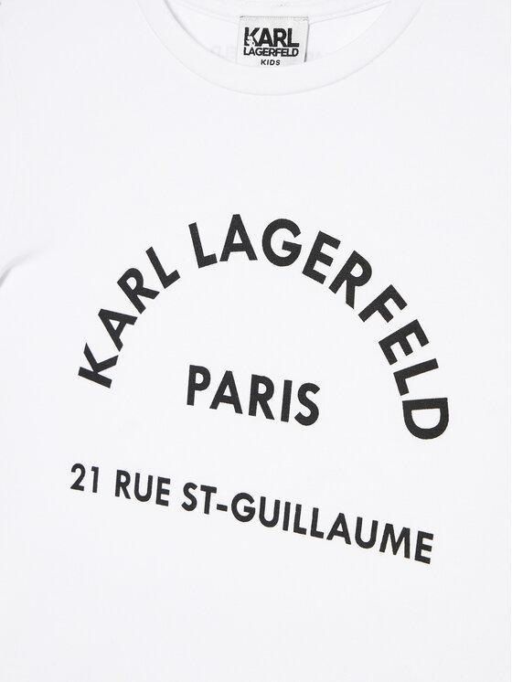 KARL LAGERFELD KARL LAGERFELD T-Shirt Z15259 S Biały Regular Fit