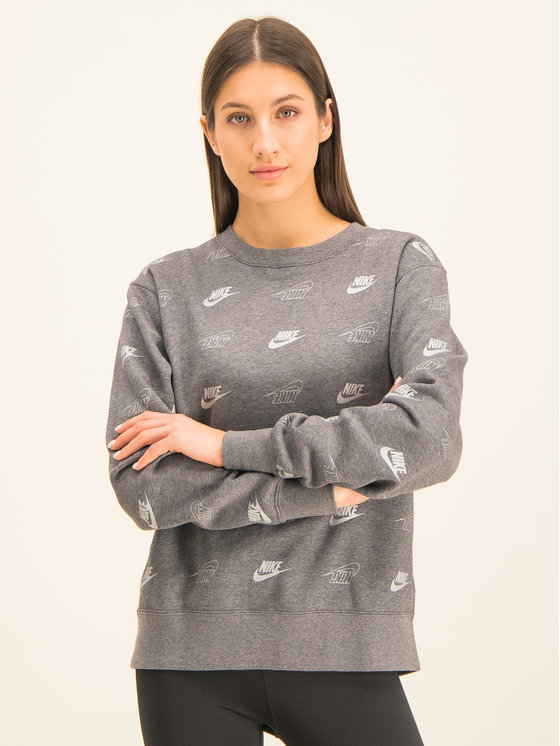 NIKE NIKE Mikina Sportswear BV4994 Sivá Loose Fit
