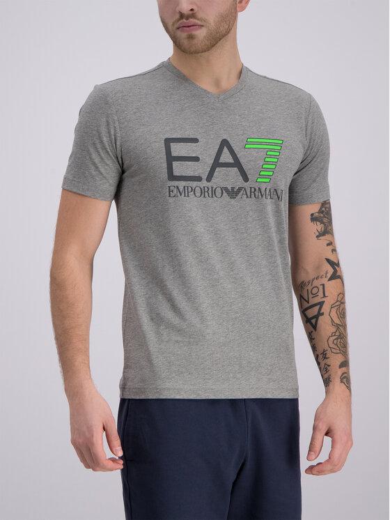 EA7 Emporio Armani EA7 Emporio Armani T-shirt 3GPT02 PJ03Z 3905 Gris Slim Fit