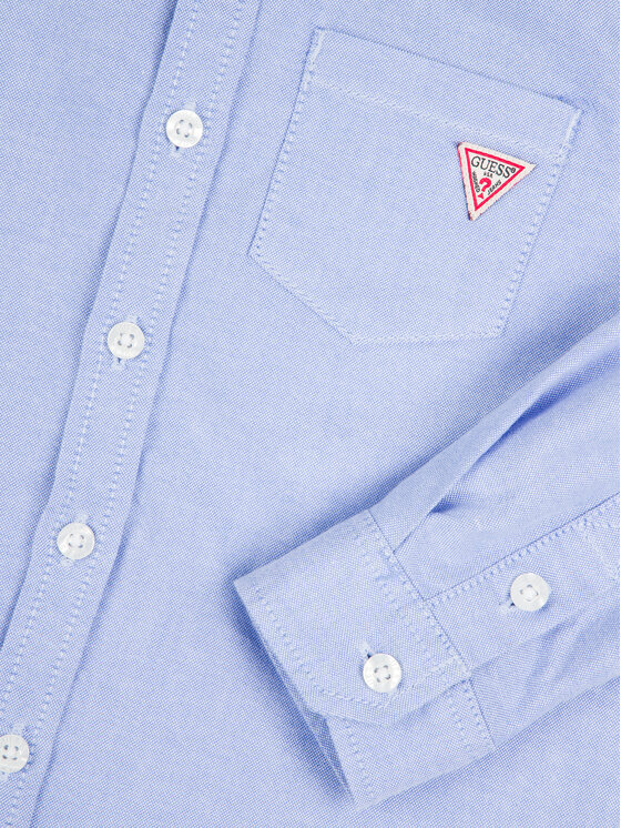 Guess Guess Πουκάμισο N01H00 W9CL0 Μπλε Regular Fit
