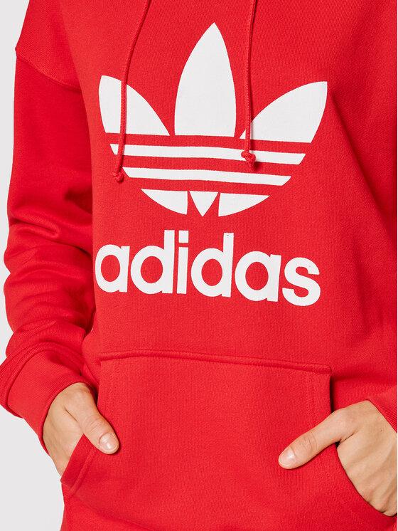 adidas adidas Majica dugih rukava adicolor Trefoil H33588 Crvena Regular Fit