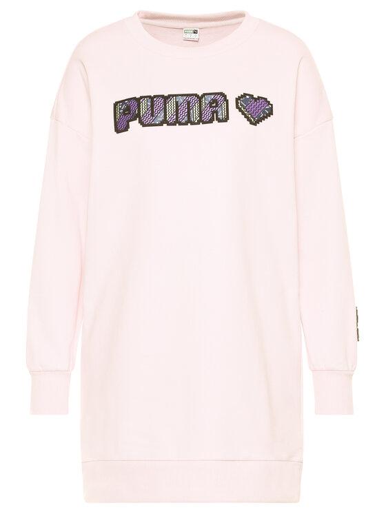 Puma Puma Trikotažinė suknelė Digital Love Dress 597069 Rožinė Regular Fit
