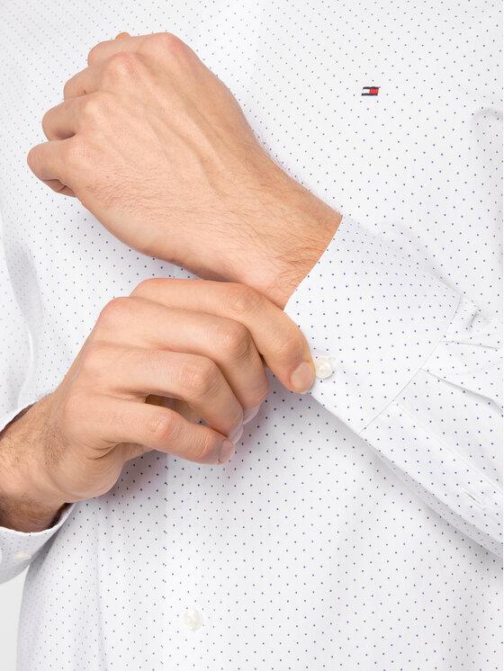 Tommy Hilfiger Tailored Tommy Hilfiger Tailored Marškiniai Poplin Dot Classic TT0TT06463 Balta Regular Fit