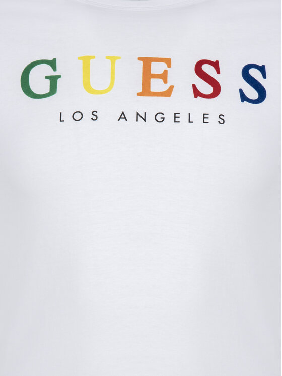 Guess Guess T-shirt M92I39 I3Z00 Bianco Slim Fit