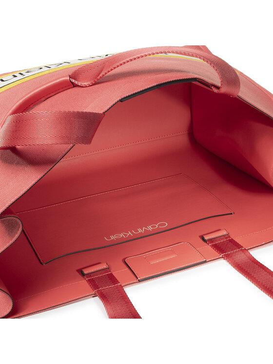 Calvin Klein Calvin Klein Torebka Stripe Logo Tote Lg K60K606300 Czerwony