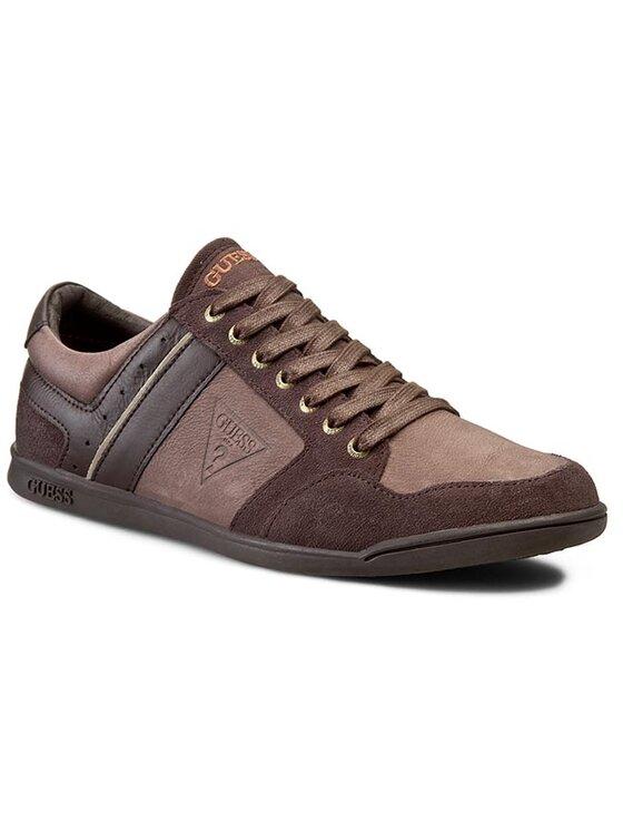 Guess Guess Sneakersy K1 FM40K1 LEA12 Brązowy