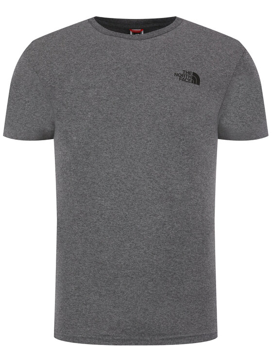 The North Face The North Face T-Shirt Simple Dome Tee NF0A2TX5JBV1 Szary Regular Fit