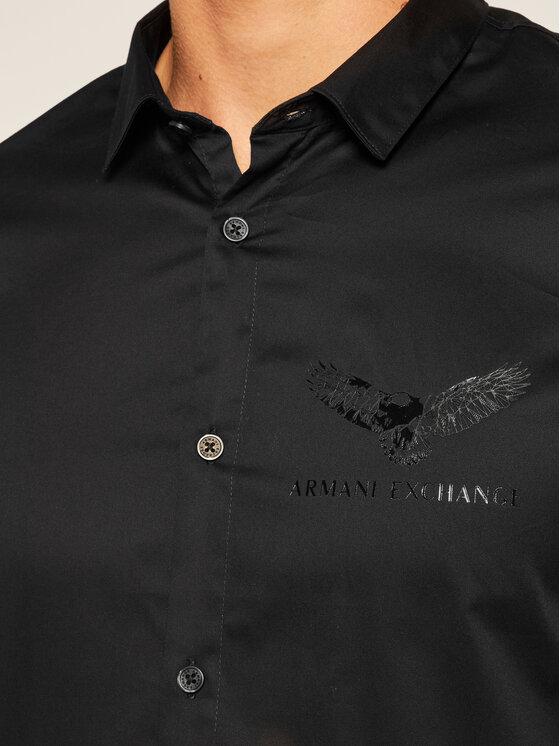 Armani Exchange Armani Exchange Košile 6HZC43 ZNAUZ 1200 Černá Regular Fit
