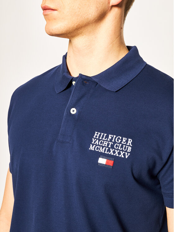 TOMMY HILFIGER TOMMY HILFIGER Polo Artwork MW0MW13106 Bleu marine Regular Fit