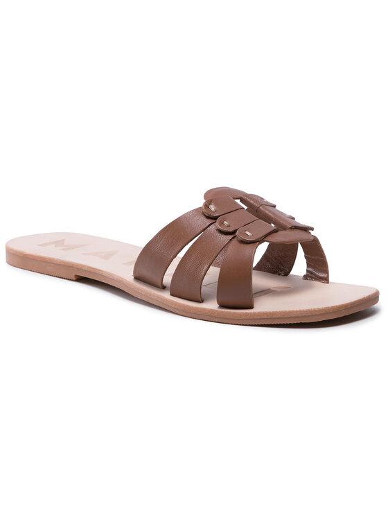 Manebi Klapki Leather Sandals S 5.1 Y0 Brązowy