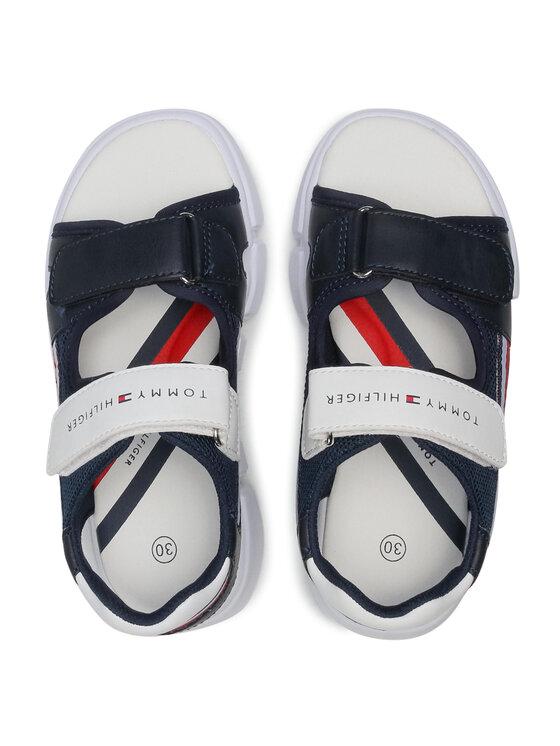 Tommy Hilfiger Tommy Hilfiger Sandały Velcro Sandal T3B2-31110-1176 M Granatowy