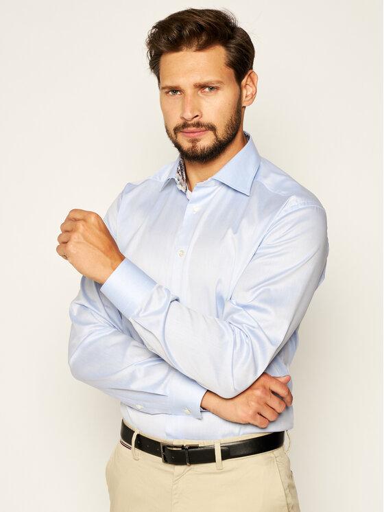 Eton Marškiniai 100000065 Mėlyna Slim Fit