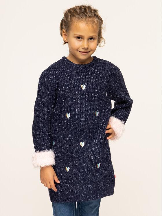 Billieblush Kasdieninė suknelė U12528 Tamsiai mėlyna Regular Fit