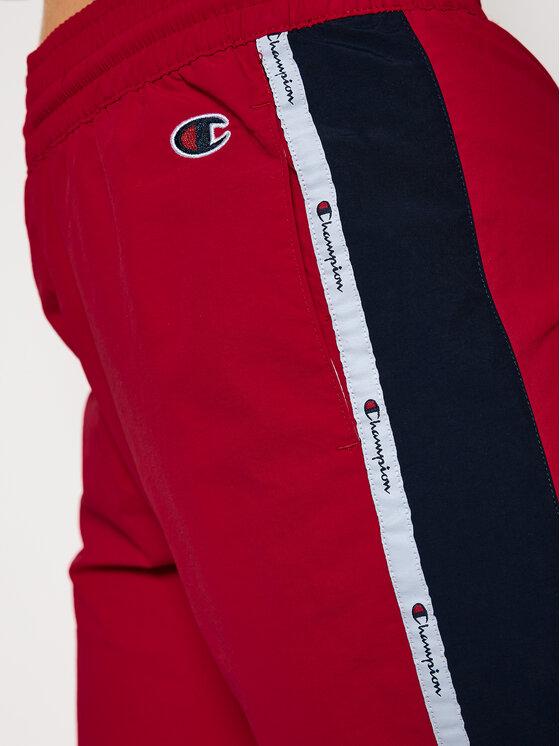 Champion Champion Spodnie dresowe Jacquard Logo Tape Track 113454 Czerwony Custom Fit