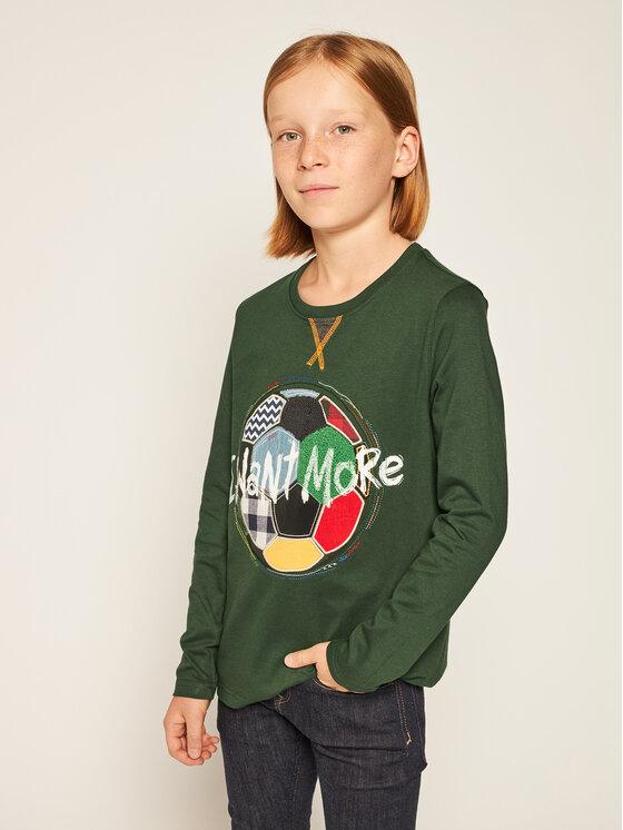 Desigual Desigual Μπλουζάκι 19WBTK26 Πράσινο Regular Fit