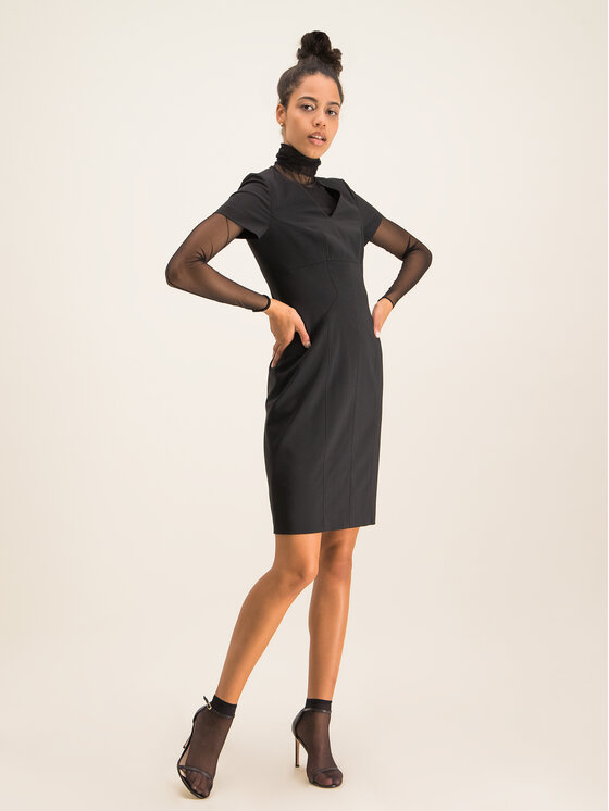 Hugo Hugo Každodenní šaty Kudera 50421972 Černá Slim Fit