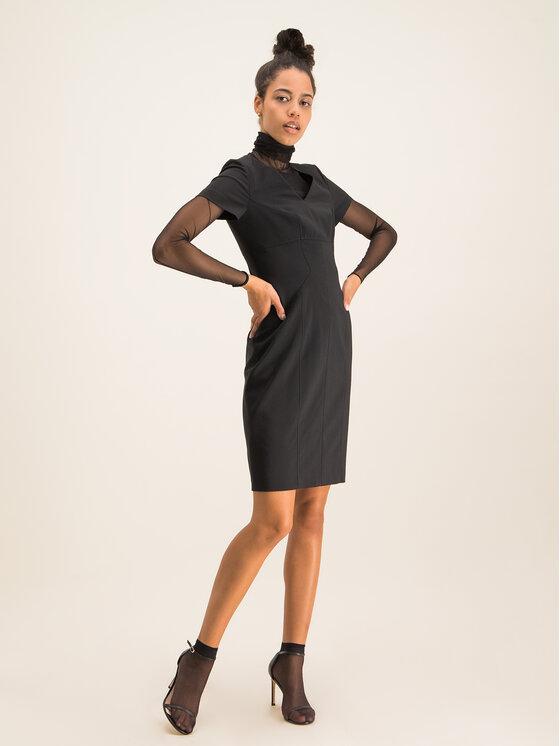 Hugo Hugo Φόρεμα κοκτέιλ Kudera 50421972 Μαύρο Slim Fit