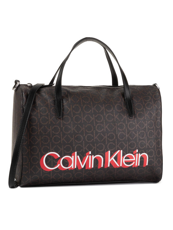 Calvin Klein Calvin Klein Torebka Monogram Duffel K60K605627 Brązowy