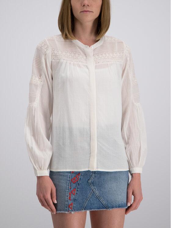 Pepe Jeans Pepe Jeans Bluzka PL303426 Biały Regular Fit