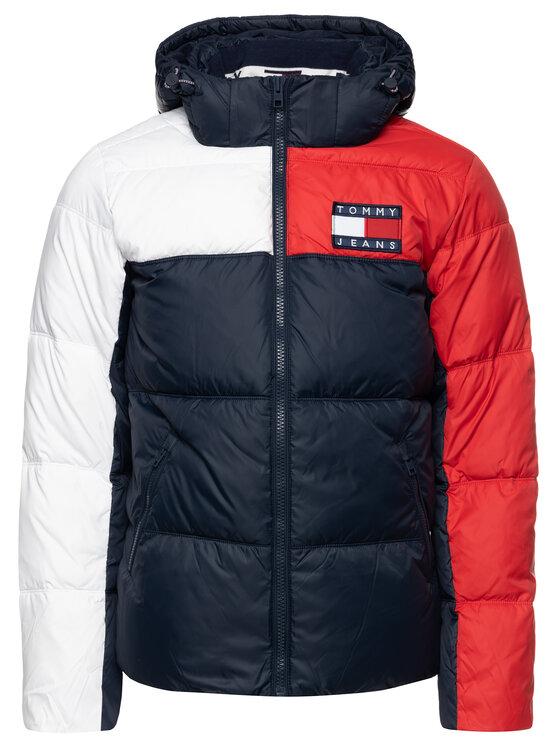 Tommy Jeans Tommy Jeans Vatovaná bunda Essential Colorblock Jacket DM0DM07116 Tmavomodrá Regular Fit