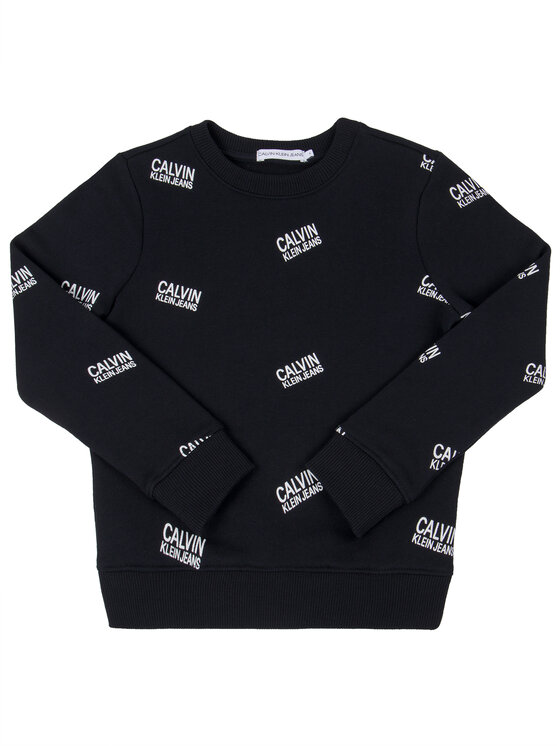 Calvin Klein Jeans Calvin Klein Jeans Bluza Stamp Logo IB0IB00400 Czarny Regular Fit