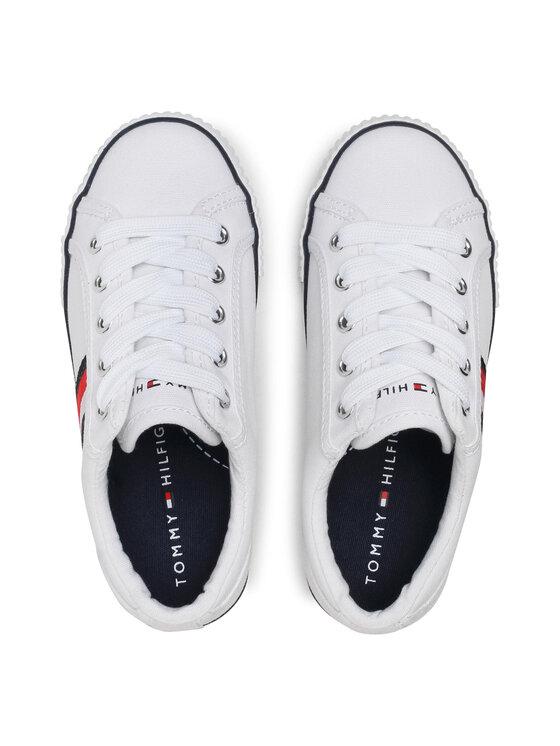 Tommy Hilfiger Tommy Hilfiger Tenisówki Low Cut Lace-Up Sneaker T3B4-31070-1185 M Biały