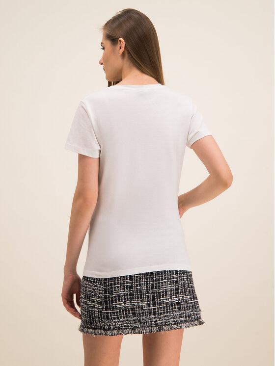 Pinko Pinko T-Shirt UNIQUENESS Golosa PE 20 UNQS 1Q1043 Y6A5 Bílá Regular Fit