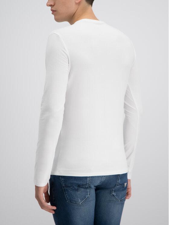 Guess Guess Longsleeve M93I53 J1300 Biały Slim Fit