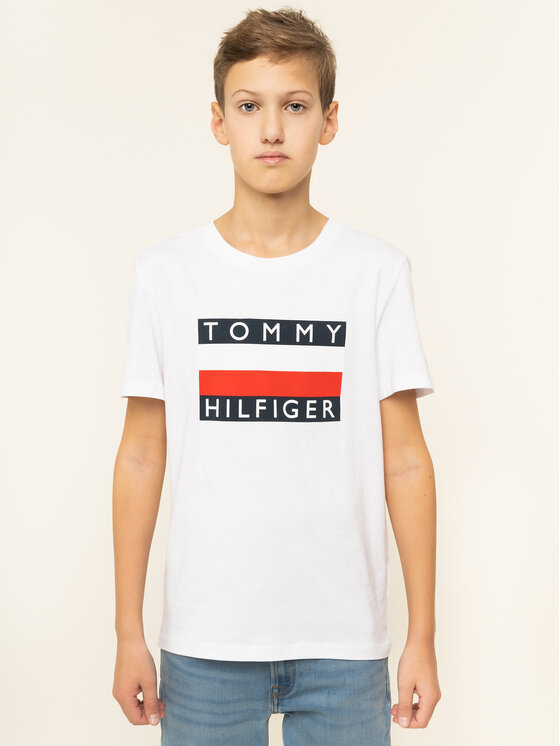 Tommy Hilfiger Tommy Hilfiger Marškinėliai Essential Tee KB0KB05547 D Balta Regular Fit