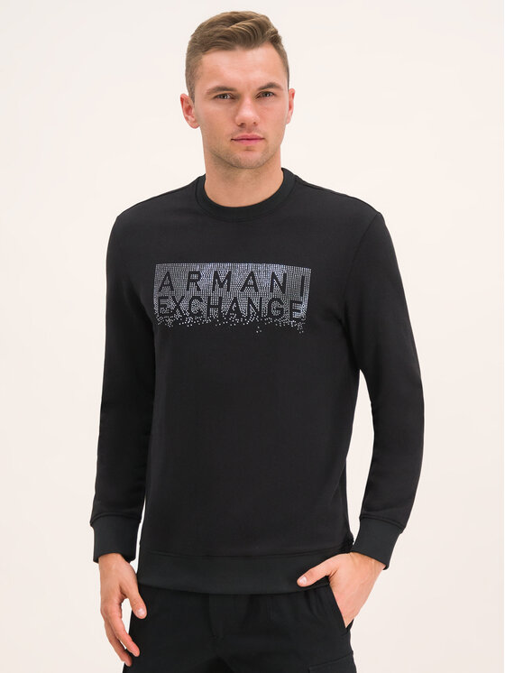 Armani Exchange Bluza 6GZMBQ ZJ1PZ 1200 Czarny Regular Fit