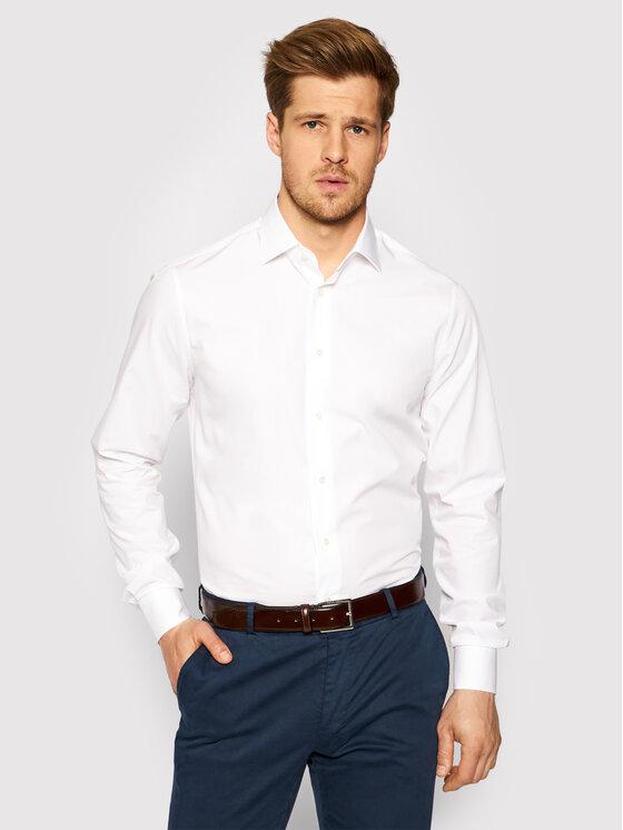 Tommy Hilfiger Tailored Marškiniai TT0TT01937 Balta Regular Fit