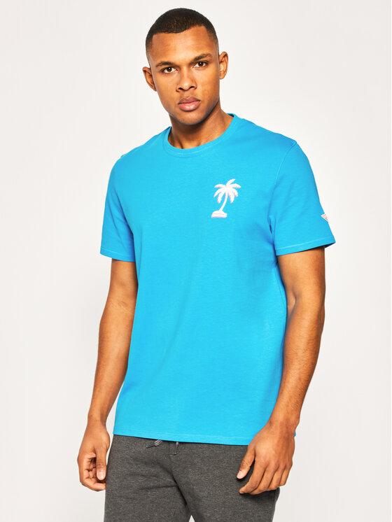 Guess Guess T-Shirt Palmography M0GI62 K8FQ0 Μπλε Regular Fit